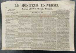 1853 NAPOLELEON III - LISTE LEGION D'HONNEUR - ELECTIONS SAINTE MARIE AUX MINES - VERVINS - CHINE - Journaux - Quotidiens