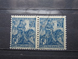 VEND BEAUX TIMBRES DE FRANCE N° 257 , BLEUS FONCES , EN PAIRE , XX !!! (a) - France