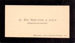 Visitekaartje - Carte Visite - Fotograaf - Photographes  A. De Souter & Fils - Bruges - Brugge - Cartes De Visite