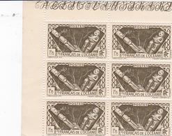 ETABLISSEMENTS DE L'OCEANIE 1939 /1949 DIVINITES INDIGENES N° 113 1F75  BRUN OLIVE BLOC DE 6 TIMBRES BDF ** - Ungebraucht
