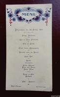Menu Déjeuner  Du 29 Avril  1931 - Hôtel D'Espagne - Menus