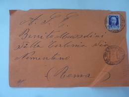 Busta Viaggiata Da Salerno A Roma Per Benito Mussolini 1938 - Marcofilie