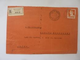 Busta Viaggiata  Raccomandata Da Montebello  Vicentino A Roma Per Benito Mussolini 1935 - Marcofilie