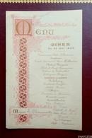 Menu Diner Du 29 Mai 1895- Mr Chaumouillé - Menus
