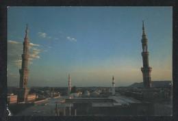 Saudi Arabia Picture Postcard Holy Mosque Medina Madina Islamic Night View Card - Arabie Saoudite