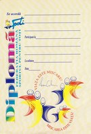 "Romania, 1990's, Lot Of 3 Blank Sport Diplomas - ""Sportul Pentru Toti"" Federation - Diplômes & Bulletins Scolaires"