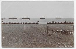 Argentina - Playa De Puerto Madryn - Fleet And Men Waiting To Embark? - Argentina