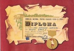 Romania, 1986, Communist Propaganda Diploma - C.N.E.F.S., RSR - Diplômes & Bulletins Scolaires