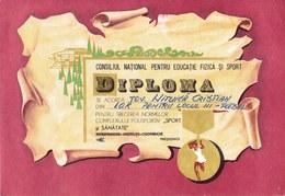 Romania, 1981, Communist Propaganda Diploma - C.N.E.F.S., RSR - Diplômes & Bulletins Scolaires