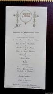Lot 2 Menus -  Déjeuner Du 30 Novembre Et Du 31 Novembre 1935 - Mme Salmon Cuiisiniere Jeu Maloches - Menus