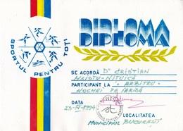 "Romania, 1996, Field Hockey Diploma - ""Sportul Pentru Toti"" Federation - Diplômes & Bulletins Scolaires"