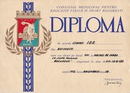 Romania, 1973, Communist Propaganda Diploma - Field Hockey, RSR - Diplômes & Bulletins Scolaires