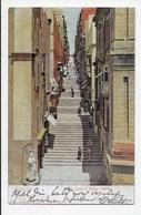 Malta - A Street Of Stairs, Valetta - Undivided Back - Malta
