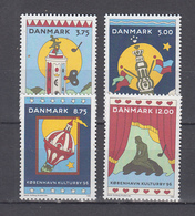Dänemark 1996 ,  Michel Nr:  1116/19   **  ,   Kulturhauptstadt Europas - Kopenhagent - Europäischer Gedanke