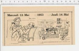2 Scans 1953 Humour Jeu De Cartes Ancien Strip-poker Prison / Bocal Poisson Et Chat Nourriture 223XN - Vieux Papiers