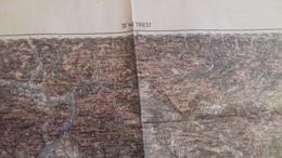 KARTE  1898    K.U.K. TRIESTE--TRST   67 X 48 CM - Documents