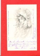 Portrait FEMME  Cpa Animée Illustrée Par Raphael TUCK - Tuck, Raphael