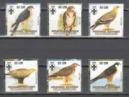 Mauritania 2002,6V In Set,birds Of Prey,roofvogels,birds,vogels,vögel,oiseaux,pajaros,uccelli,aves,MNH/Postfris(A3646) - Arends & Roofvogels