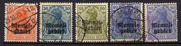 Memel 1920 Mi 14-17, Gestempelt (Mi [120119XXII] - Memel (Klaïpeda)