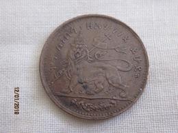 Ethiopie 1 Besa Type II (inscription Erased) - Ethiopie