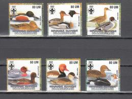 Mauritania 2002,6V In Set,birds Of Prey,roofvogels,birds,vogels,vögel,oiseaux,pajaros,uccelli,aves,MNH/Postfris(A3649) - Eenden