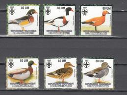 Mauritania 2002,6V In Set,birds Of Prey,roofvogels,birds,vogels,vögel,oiseaux,pajaros,uccelli,aves,MNH/Postfris(A3650) - Eenden