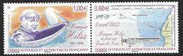 TAAF 2012 N° 639/640 Neufs Maryse Hilsz Aviation - Nuevos