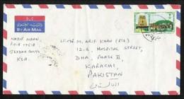 Saudi Arabia Air Mail Postal Used Cover Jeddah To Pakistan - Arabie Saoudite