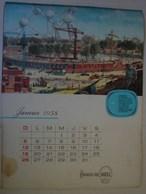 Calendrier. 11.Janvier 1958. Bruxelles Via SHELL. Photos De Différentes Expositions - Kalenders