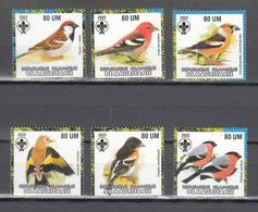 Mauritania 2002,6V In Set,finches,vinken,birds,vogels,vögel,oiseaux,pajaros,uccelli,aves,MNH/Postfris(A3653) - Zangvogels