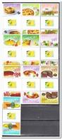 Curacao 2011, Postfris MNH, Fruit, Cakes, Gutterpair - Curaçao, Nederlandse Antillen, Aruba