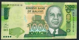 MALAWI P62b 1000 KWACHA  2013 NEW SIGNATURE 2013  UNC. - Malawi