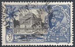 India, 1935 Silver Jubilee, 3½a Golden Temple # S.G. 245 - Michel 143 - Scott 148  USED - 1911-35 Roi Georges V