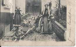 Bruxelles - Laitières - Dos Non Séparé - Circulé En 1904 - Animée - Petits Métiers - BE Queqlues Défauts - B - Petits Métiers