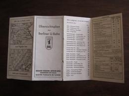 UBERSICHTSPLAN DER BERLINER U BAHN 1962 - Europe