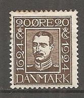 DK  Yv. N°  164  *   20o  Tricentenaire De La Poste   Cote  6  Euro BE R  2 Scans - 1913-47 (Christian X)