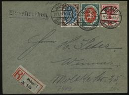 S0844 DR Nationalversammlung Infla R - Brief :gebraucht Im Ort Sonderstempel Weimar Nationalversammlung 23.7.1919 ,Bed - Deutschland