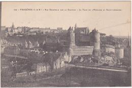 35 - FOUGERES - Vue Générale Sur Le Château - La Tour De L'Horloge Et Saint-Léonard - Fougeres