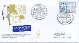 ITALIA - FDC  VENETIA  2006 - MEDICINA DEL LAVORO - VIAGGIATA - ANNULLO SPECIALE - 6. 1946-.. Repubblica