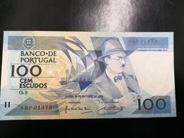 Portugal PAPEL NOTA 100$00 CH 9 FERNANDO PESSOA 16/OUT/1986 - Portugal