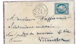 046. LSC N°46 Report 2 Bleu Gris (Belle Nuance!) - GARE De CHAMBERY (SAVOIE) - 1871 - Poststempel (Briefe)