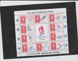 FRANCE - 1 Bloc Feuillet Neuf Xx N° YT BF14 - 1992 - Alberville92 Jeux Olympiques D'Hiver - Blocks & Kleinbögen