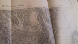 KARTE   K.U.K   MITTERBURG  -FIANONA   62   X 48  CM - Documenti