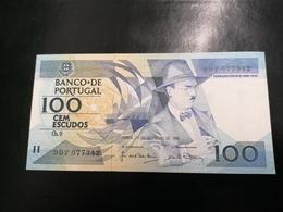 Portugal PAPEL NOTA 100$00 CH 9 FERNANDO PESSOA 27/NOV/1988 - Portugal