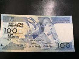 Portugal PAPEL NOTA 100$00 CH 9 FERNANDO PESSOA 26/MAIO/1988 - Portugal