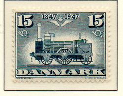 PIA - DANIMARCA -1947 : Centenario Delle Ferrovie  - (Yv 311-13) - Trains