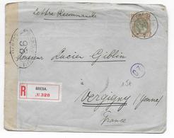 NEDERLAND - 1916 - ENVELOPPE RECOMMANDEE Avec CENSURE De BREDA => VERGIGNY - Brieven En Documenten