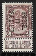 Brussel 1911 Typo Nr. 19B - Precancels