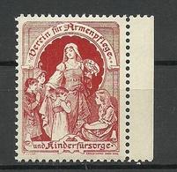 AUSTRIA Or Germany 1906 Verein Für Armenpflege Und Kinderfürsorge MNH - Vignetten (Erinnophilie)