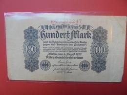 Reichsbanknote 100 MARK 1922 - [ 3] 1918-1933 : Repubblica  Di Weimar
